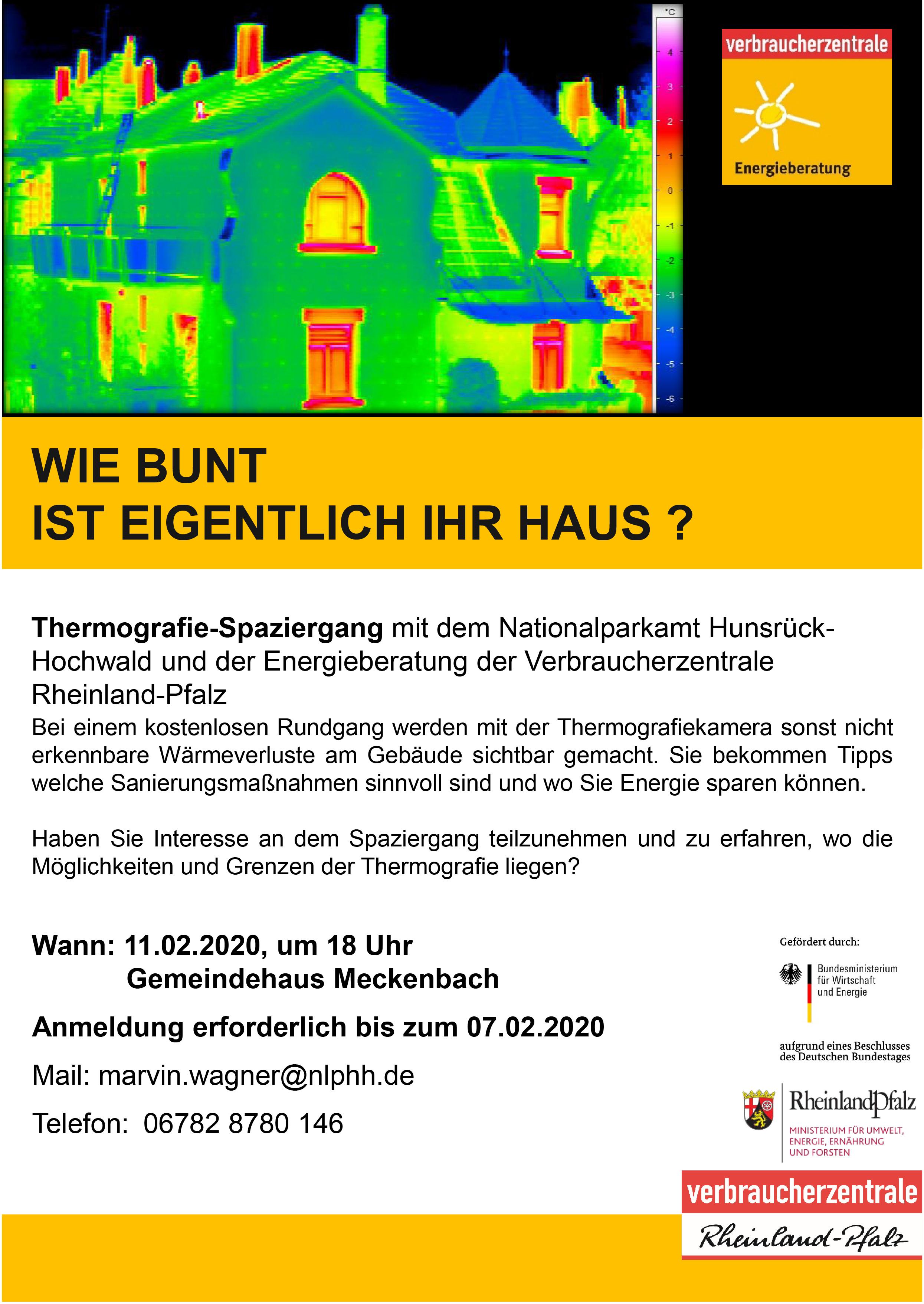 Thermografie-Spaziergang mit dem Nationalparkamt Hunsrück-Hochwald und der Energieberatung der Verbraucherzentrale Rheinland-Pfalz